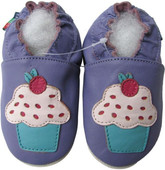 shoeszoo cupcake purple 0-6m S new soft sole leather baby shoes