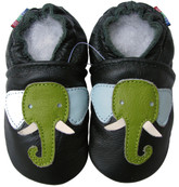 carozoo elephant dark green 0-6m new soft sole leather baby shoes