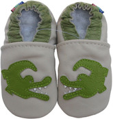 carozoo crocodile cream 0-6m C1 soft sole leather baby shoes