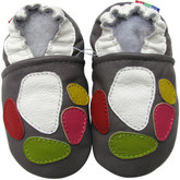 carozoo colorful marbles 0-6m soft sole leather infant baby shoes