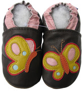 carozoo colorful butterfly brown 0-6m new soft sole leather baby shoes