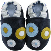 carozoo circle dark blue 0-6m soft sole leather infant baby shoes