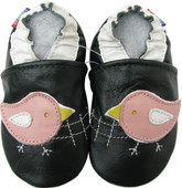 carozoo chicky dark green 0-6m new soft sole leather baby shoes