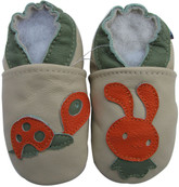 carozoo bunny and turtle 18-24m soft sole leather baby shoes