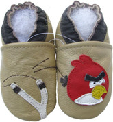 carozoo bird slingshot tan 0-6m new soft sole leather baby shoes