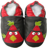 carozoo bird dark brown 0-6m soft sole leather baby shoes