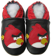 carozoo bird black 0-6m new soft sole leather baby shoes