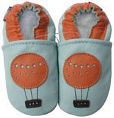 carozoo balloon light blue 0-6m soft sole  leather baby shoes