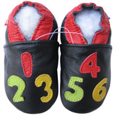 carozoo  number black 0-6m soft sole leather baby shoes