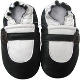 carozoo  Mary Jane black 12-18m soft sole leather baby shoes slippers