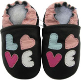 carozoo  LOVE  black 0-6m new soft sole leather baby shoes