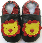 carozoo lion dark green 0-6m new soft sole leather baby shoes