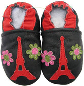carozoo Eiffel tower flower 0-6m new soft sole leather baby shoes