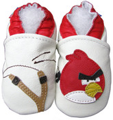 carozoo bird slingshot white 0-6m new soft sole leather baby shoes