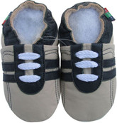 shoeszoo sports black grey 6-12m S soft sole leather baby shoes