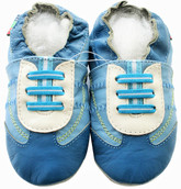 shoeszoo sneaker turquoise blue 0-6m S new soft sole leather baby shoes