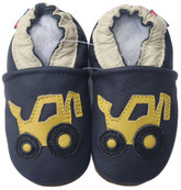 carozoo forklift navy blue 6-12m soft sole leather baby shoes