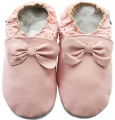 shoeszoo bow pink 18-24m S soft sole leather baby shoes