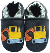 carozoo excavator dark blue 0-6m soft sole leather infant baby shoes