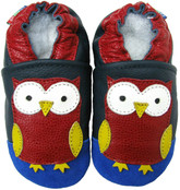 carozoo owl dark blue 0-6m soft sole leather baby/infant/newborn shoes