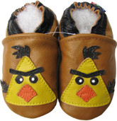 carozoo bird light brown 0-6m soft sole leather baby shoes