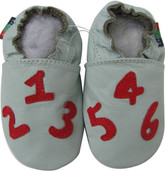 shoeszoo number light blue 0-6m S new soft sole leather baby shoes