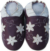 shoeszoo star flower purple 0-6m S soft sole leather baby shoes