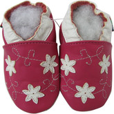 shoeszoo star flower fuchsia 0-6m S soft sole leather baby shoes