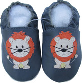 shoeszoo lion dark grey 0-6m S new soft sole leather baby shoes