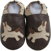 shoeszoo pony brown 0-6m S soft sole leather baby shoes