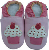 shoeszoo cupcake pink 0-6m S soft sole leather infant baby shoes