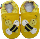 shoeszoo bee yellow 0-6m S soft sole leather infant baby shoes