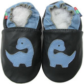 shoeszoo dino dark blue 0-6m S soft sole leather baby shoes