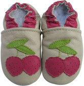 carozoo lichee cream 0-6m soft sole leather baby shoes