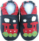 shoeszoo train dark blue 0-6m S soft sole leather baby shoes