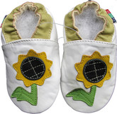 Shoeszoo sunflower white 18-24m S soft sole leather baby shoes