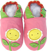 Shoeszoo sunflower pink 6-12m S soft sole leather baby shoes