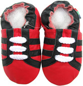shoeszoo sports black red 0-6m S soft sole leather baby shoes
