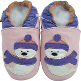 shoeszoo snowman light pink 0-6m S soft sole leather baby shoes