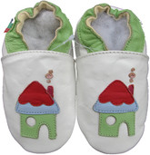 Shoeszoo house white 0-6m S soft sole leather baby shoes