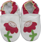 Shoeszoo flower white 0-6m S soft sole leather baby shoes