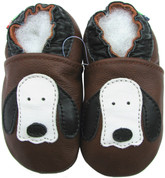 soft sole leather baby shoes dog long ear brown 0-6m
