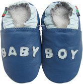 soft sole leather baby shoes baby boy blue 0-6m S