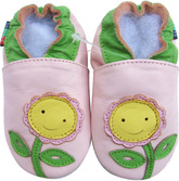 shoeszoo sunflower light pink 0-6m S soft sole leather baby shoes