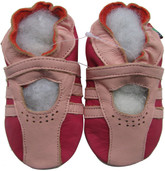 shoeszoo Mary Jane pink fuchsia 0-6m S soft sole leather baby shoes