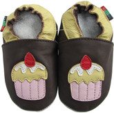 shoeszoo cake dark brown 0-6m S soft sole leather baby shoes
