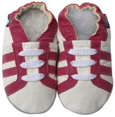 shoeszoo sports fuchsia white 12-18m S soft sole leather baby shoes