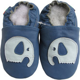 shoeszoo elephant blue 0-6m S1 soft sole leather baby shoes