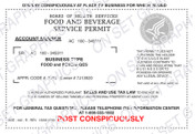 Food and Beverage Permit