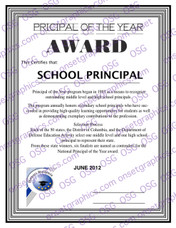 School Pricipal Award